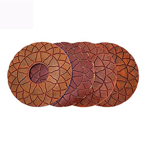 Almohadilla de pulido de diamantes 4 unids super 6 pulgadas de pulido de diamantes almohadillas de pulido de enlaces de cobre húmedo para un disco de pulido de piso de hormigón de mármol de granito Po