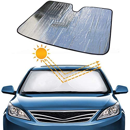 LUKUCEA Parasol Coche Delantero Parasol Coche Parabrisas Protector Plegable con Gran Pantalla Anti UV Rayos Mejor Contral de Calor Multiuso Apto a la Mayoría de Coches y Suvs