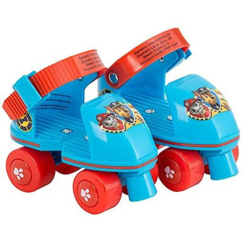 PAW PATROL QUAD ADJUSTABLE ROLLER SKATES FOR BEGINNERS KIDS CHILDREN OFFICIAL by BARGAINS-GALORE
