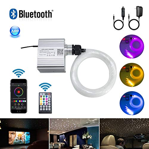 AKEPO 10W Twinkle Fiber Optic Lights kit APP Control with Music Mode...