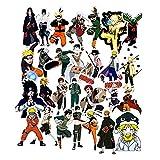 49 Unids / Set Anime Naruto Pegatina Para Portátil Equipaje Coche Monopatín Guitarra Nevera Calcomanía Para Chico