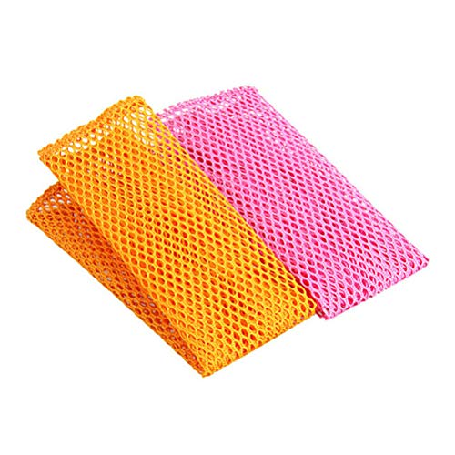 OUNONA 食器洗い メッシュ 布巾 雑巾 キッチンクリーニングクロス 6ピース