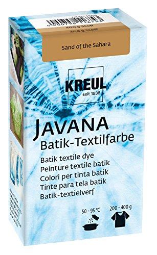 Kreul 98534 - Javana Batik Textilfarbe, zum Färben von Textilien mit der Shibori Technik, 70 g Farbpulver in Sand of The Sahara