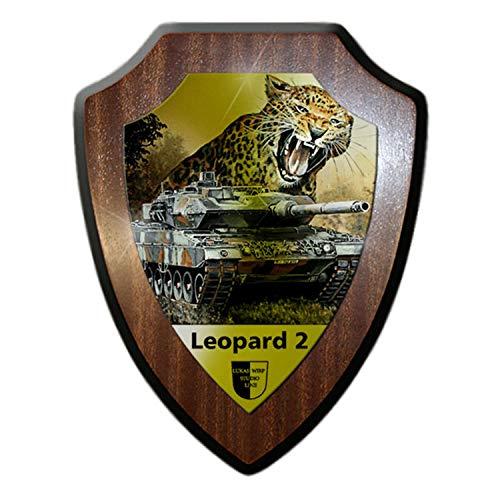 Escudo Cartel Lukas wirp tanque Leopard 2Bundeswehr Leo 2A7pzbtl Gemälde sintética nadadores # 23481
