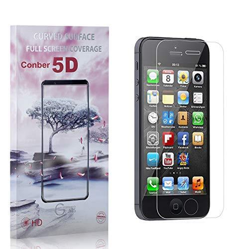 Conber [4 Pièces] Verre Trempé pour iPhone 5C, [9H Dureté][Haut Définition][sans Bulles] Ultra-résistant Film de Protection écran pour iPhone 5C