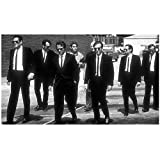 Reservoir Dogs Poster Black And White Canvas Painting Poster And Print Wall Art Picture For Living Room Decor-20X40 Inch Frameless