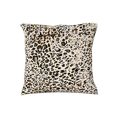 BOBONC Kussensloop 45x45 cm Soft Decoratieve vierkante sierkussenslopen in polyestervezel patroon Luipaard dierenhuid afdrukken voor sierkussens Dierenhuid Best Gift voor kinderen
