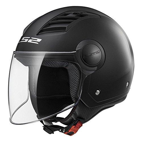 Casco abierto para moto LS2 Airflow L negro brillo (XXL)