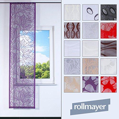Rollmayer SCHIEBEVORHANG Muster FLACHENVORHANG SCHIEBEPANEL SCHIEBEGARDINE RAUMTEILER - Länge 150-200cm (Welle 2 / Braun, Klettband)