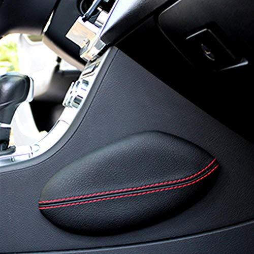 Almohadilla universal para asiento de coche, soporte para piernas y rodillas, almohadilla de piel y apoyo para el interior del coche