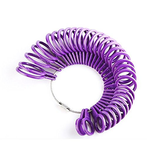 UK anello strumento di misurazione, Lanveni finger Dimensionamento plastica cerchio gioiello gauge kit dispositivo anelli diametri