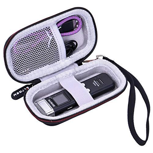LTGEM EVA Hard Case for EVISTR 16GB Digital Voice Recorder Voice Activated Recorder - Travel Protective Carrying Storage Bag