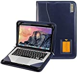 Broonel - Serie Contour - Funda Protectora De Cuero Azul De Alta Resistencia Compatible con La Razer Blade 15 Base Model: 15.6' Gaming Laptop