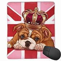マウスパッド パグとイギリスの国旗 ゲーミング オフィス最適 高級感 おしゃれ 防水 耐久性が良い 滑り止めゴム底 ゲーミングなど適用 マウスの精密度を上がる( 22*18*0.3cm )