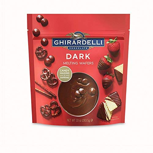 Ghirardelli Candy Making and Dipping, Dark Chocolate Melting Wafers, 10 Ounce Bags