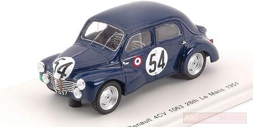 el estilo clásico Spark Model S5211 Renault 4CV 1063 N.54 27th LM LM LM 1951 J.LECAT-H.SENFFTLEBEN 1 43 Compatible con  venta al por mayor barato
