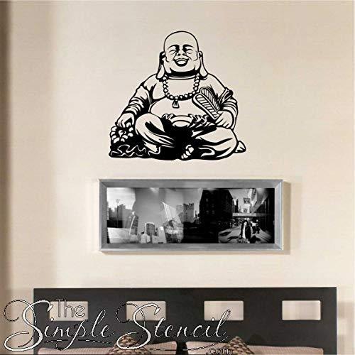 Happy Boeddha Bible Verse tekst muurtattoos sjablonen sticker religieuze christelijke muurkunst stickers voor thuis of kerk
