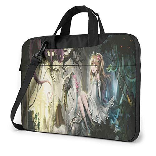 15.6 inch Laptop Shoulder Briefcase Messenger Alice in Wonderland Tablet Bussiness Carrying Handbag Case Sleeve