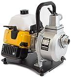 WASPPER PC108  Hochleistungs- & Tragbare Benzin Wasserpumpe mit 8000 l/h Förderleistung  38m Wasserhub  10000 U/min Benzinmotor und enthaltenem Zubehör