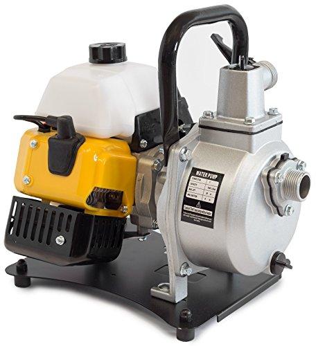 ✦ WASPPER PC108 ✦ Bomba de Agua De Uso Rudo & Portable con Tasa de Flujo de 8000 l/hr ✦ Elevación de Agua de 38m ✦ 10000 RPM Motor de Petróleo y Accesorios incluidos