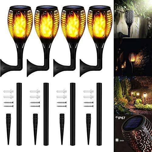 Paquete De 4/8 Luces De Antorcha Solar,actualizado 20 Pulgadas 12 LED,antorchas Solares De Llama Parpadeante A Prueba De Agua,llama Danzante,decoración De Paisaje,iluminación (Size : 8 Pack)