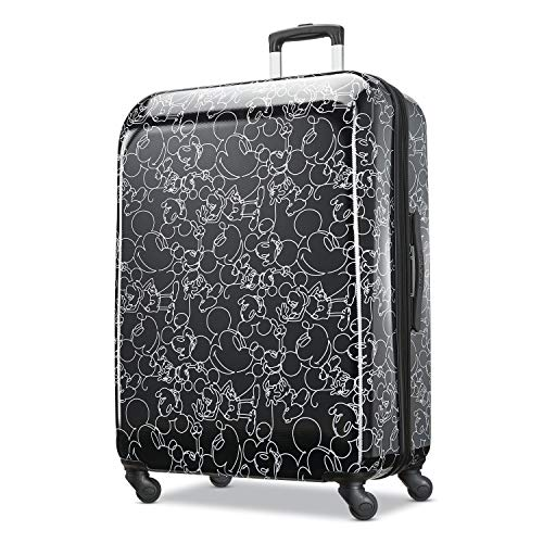 American Tourister Disney Hardside Luggage with Spinner Wheels, Mickey Mouse Scribbler Multi-Face, Checked-Large 28-Inch