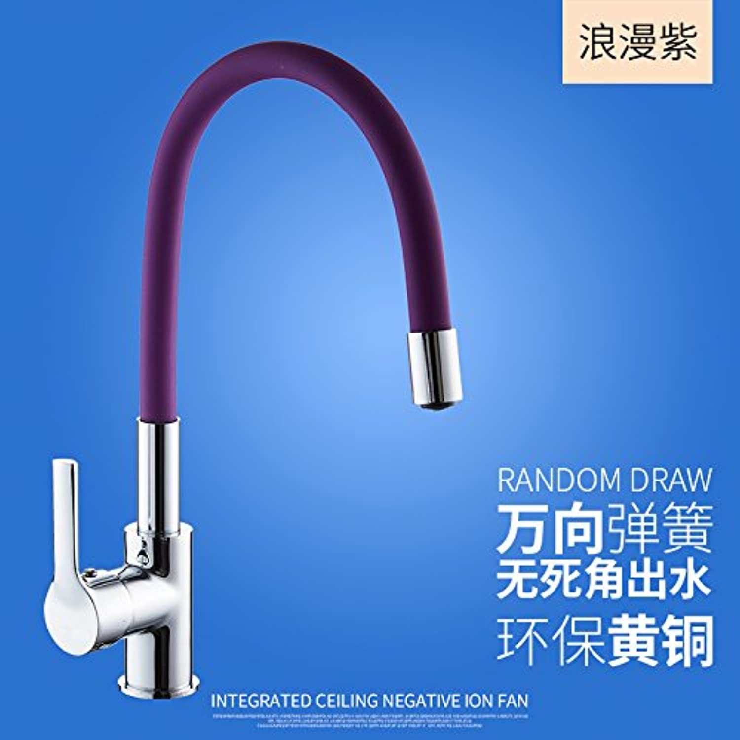 SADASD Contemporary Bathroom Full Copper Basin Faucet Mixer Kitchen Washing 360° redation Basin Sink Mixer Tap Ceramic Spool Single Hole Single Handle Cold Water With G1 2 Hose