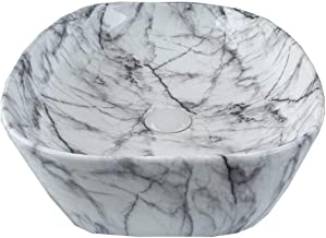 STM Ceramic Wash Basin (14 inches_White&Black)