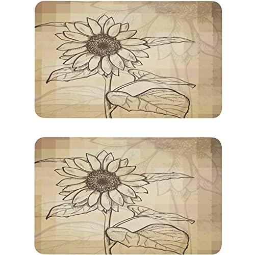 Vnurnrn Placa magnética para nevera con diseño de girasol, diseño floral, 2 unidades