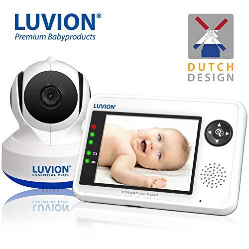 LUVION ESSENTIAL - Babyphone mit Nachtsichtkamera - 3.5 zoll Farbbildschirm - (Essential Plus mit Schwenk- und Neige Kamera)