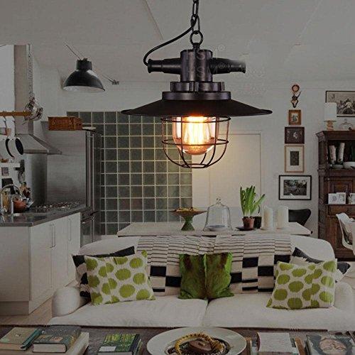 E27 Métal Vintage Suspensions Luminaire Lampes Retro Pendentif éclairage Industriel Antique Plafonnier Luminaire Aluminium éclairage de Plafond E27 Lampe LED Antique Suspensions Luminaire [Classe éner