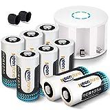 Keenstone Arlo Battery Set, CR123A 3.7V 750mAh lithium battery, 8 Pack...
