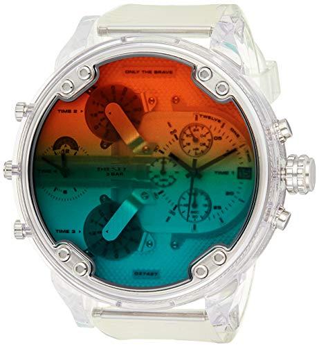 Diesel Herren Analog Quarz Uhr mit Polyurethan Armband DZ7427