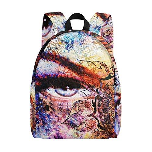 Coosun Orientalisches Mandala-Ornament, leicht, Schule, klassischer Rucksack, Reiserucksack für Mädchen, Frauen, Kinder, Jugendliche