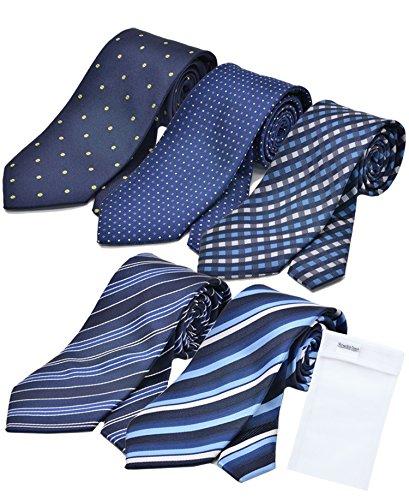 ビジネスマンサポート 洗えるネクタイ 5本セット 洗濯ネット付き p-g2h2k2m2n2