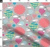 Heißluftballons, Deckchen, Wolken, Luftballons,