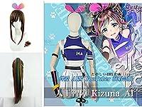 """バーチャルアーティスト キズナアイ「Kizuna AI 2nd Live """"hello, world 2020""""」コスプレ衣装+ウィッグ(靴別売り)"""
