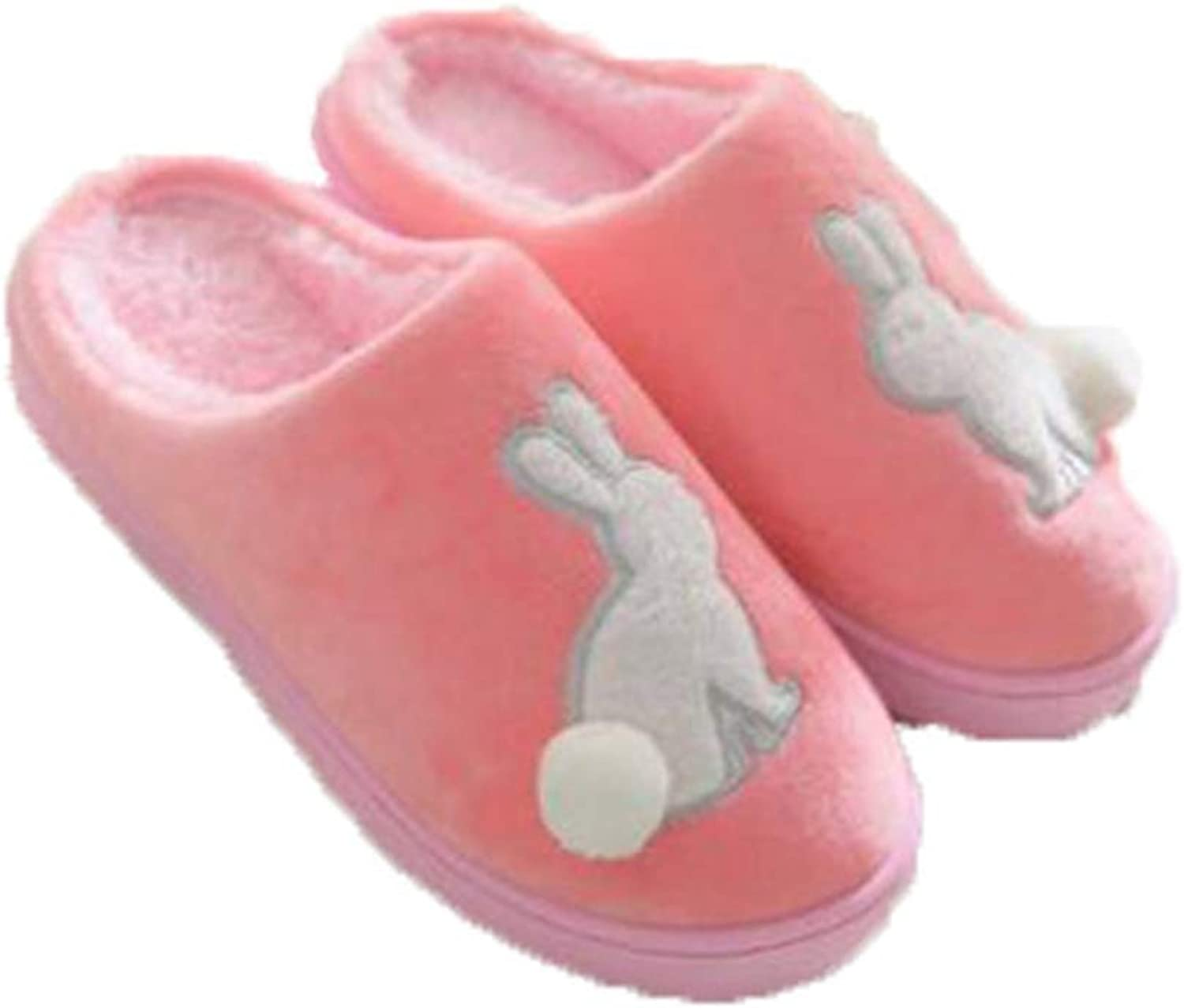 ASO-SLING Womens Cute Rabbit Home Slippers Soft Fleece Plush Slip On Memory Foam Clog House shoes for Indoor Outdoor