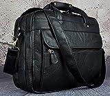 JPDP Men Crazy Horse Leather Antique Vintage Design Business Briefcase Laptop Bag Fashion Attache Messenger Bag Tote Portfolio 7146-d Negro 2