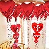 Xtra Large 12 +2 Red I Love You Balloons and Heart Balloons Set - Pack of 14   Valentines Day Balloons for Valentines Day Decorations   Heart Shaped Balloons for Romantic Decorations Special Night