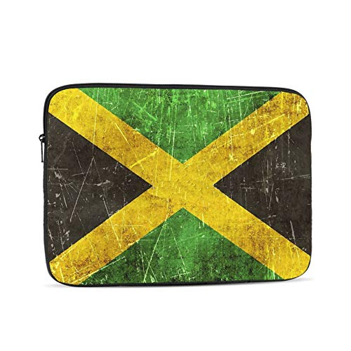 Vintage Aged And Scratched Jamaican Flag 13 Inch Laptop Sleeve Bag Compatible with 13.3' Old MacBook Air (A1466 A1369) Notebook Computer Protective Case Cover