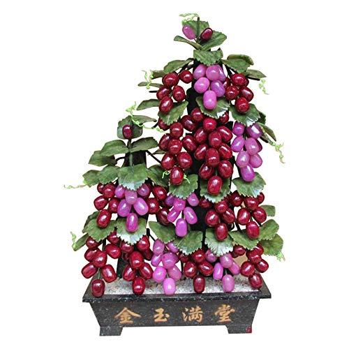 Planta Artificial para bonsái Árbol de bonsái artificial Faux Planta en maceta Planta de la casa interior para el hogar Decoración de la oficina Decoración de la planta falsa (árbol de uva) Falsas Pla