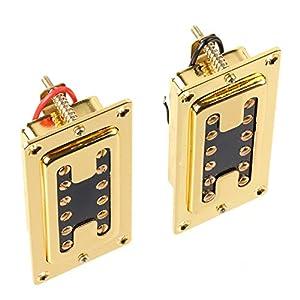 lyws Electric Guitar Humbucker Tonabnehmer Steg/Hals Gold C6 gold