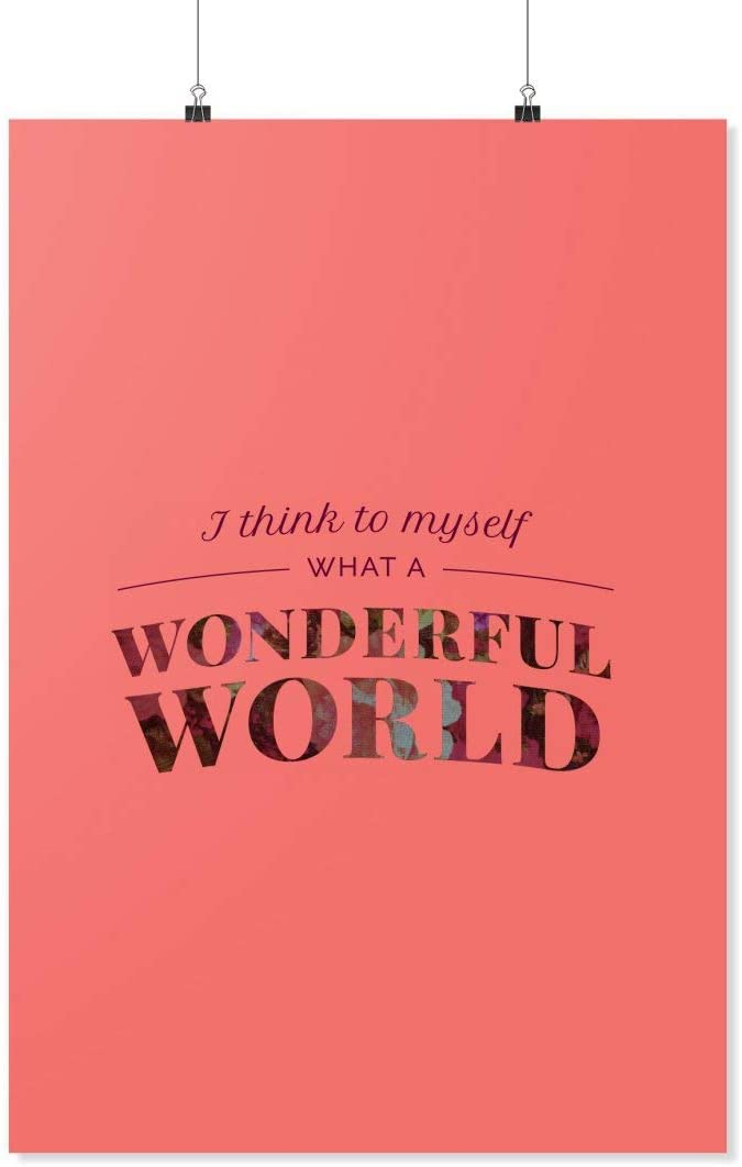 LyricMerch What A Wonderful World Large discharge sale Ranking TOP9 Skies of Blue Poster 24x36