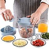 YAeele Chopper de alimentos manuales, fregador de vegetales Blender de picador para cortar frutas verduras carne molinillo de carne