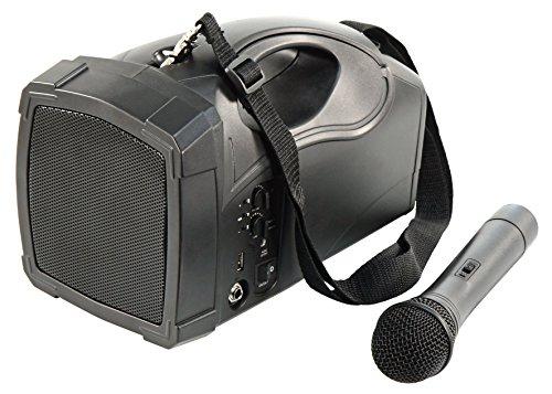 HOLLYWOOD the Starsound - Mobile Beschallungsanlage | PSS-Bluetooth | mit Verstärker, USB und Funkmikrofon | ideal für z. B. Reden, Ansprachen, Vorträge, Markt und Gesang