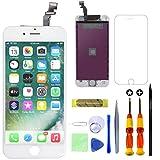 GULEEK Pantalla para iPhone 6 4,7' Pantalla táctil LCD Pantalla de Cristal Reemplazo del Marco del digitalizador con Herramientas de reparación (Blanco)