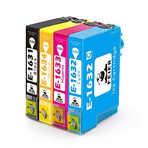 feier - Recambio de cartuchos de tinta Epson 16XL 16 XL compatibles con impresoras Epson Workforce WF-2630WF WF-2750DWF WF-2510WF WF-2650DWF WF-2010W WF-2520NF WF-2530WF WF-2540WF y WF-2660DWF