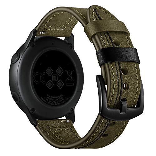 LAYERFURUN Uhrenarmband-Bügel Ersatz-Uhr 22mm for Huawei Uhr GT2e / GT2 46mm Zigzag Leder Stap (Schwarz) (Color : Green)