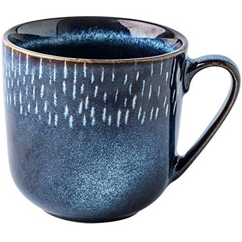 GREATY Cappuccino Tassen Personalisierte Tasse 300ml Kreative Meteor kaffeetasse Emaille Tasse Wasserbecher Tasse Büro Faultier Tasse Geschenk, Blau